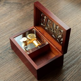 musical box mini NZ - Mini Vintage Clockwork Music Box Musical Toy with Melody of Castle In The Sky Gift For Christmas Birthday Valentine9s