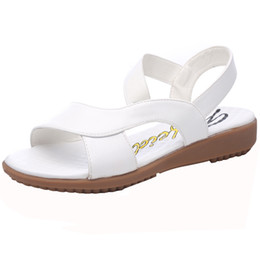 China New Summer Sandals, Women Flat-soled Shoes, White Nurse Shoes, Soft-soled Anti-skid Large Size Mother's Shoes for Pregnant Women supplier casual ties for men suppliers