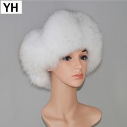 $enCountryForm.capitalKeyWord NZ - 2018 Women Lovely Fox Fur Hats Natural Raccoon Fox Fur Russian Ushanka Hat Winter Quality Thick Warm Ears Bomber Cap New Arrival D19011503