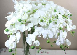 Metal Orchid Australia - High Grade Phalaenopsis Butterfly Moth Orchid Fake Orchids Flower for Wedding Centerpieces Decorative Phalaenopsis Flower Classic Design