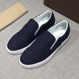 italian canvas shoes 2019 - NEW 2019 Italian luxury designer takes the world by the wayside by weaving driving shoes for men cheap italian canvas sh