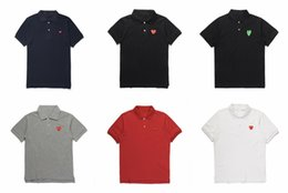 $enCountryForm.capitalKeyWord NZ - Designer polo shirts men commes des t shirt CDG play cotton tee Embroidered love heard short sleeve for summer vetements size s-xl