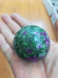 Folk Art Christmas Australia - Beautiful Natural Unakite Stone Oval Sphere Ball Miner as Christmas gift standing