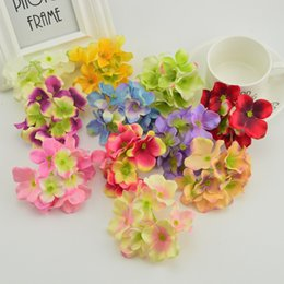 $enCountryForm.capitalKeyWord Australia - 10pcs silk hydrangea door lintel Artificial flowers for needlework home Wedding car Accessories Party decoration fake Rose petal
