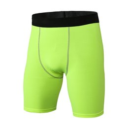$enCountryForm.capitalKeyWord Australia - Men Quick Dry Compression Shorts Wear Base Layer Solid Tights Trousers New Arrival Elastic Fitness Breathable Short Pants