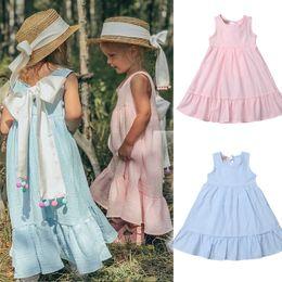 $enCountryForm.capitalKeyWord Australia - 2019 Kids Baby Girls Dress Summer Sleeveless Ruffle Bow Dresses Boho Sundress Casual Children Baby