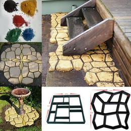 DIY Caminho De Plástico Criador Molde Manualmente Pavimentação de Cimento Tijolo Moldes Jardim Pedra Estrada Concreto Moldes Pavimento Para O Jardim Decoração de Casa em Promoção