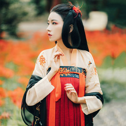 Chinese Folk Dance New Arrival Hanfu Women Chinese Dance Costume Traditional Stage Wear For Singers Oriental Performance Clothing Folk Dress Dc1810 Novelty & Special Use