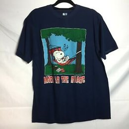 Snoopy Shirts Australia - Vintage Snoopy Made in the Shade T Shirt Sz L Single Stitch Made in the USA