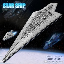 Wholesale 05028 Star Toys Wars Compatible With ing MOC-15881 Executor Class Star Dreadnought Star Destroyer Building Blocks Kids Gifts