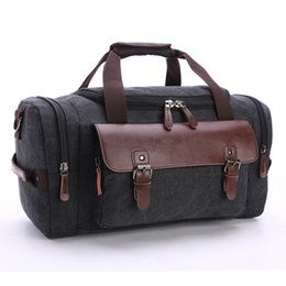 $enCountryForm.capitalKeyWord Australia - New Large Capacity Luggage Suitcase Women Men Luxury Totes made of High Quality Canvas and Real Leather Travel Totes Handbags Storage Bag
