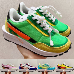 babys shoes 2021 - LDWaffle Toddler Running Shoes 2020 Classic Kids Sneakers Elastic Band Green Multi Summit White Babys Children Shoes Siz