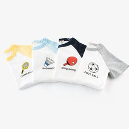$enCountryForm.capitalKeyWord Australia - baby boys girls tshirts balls tee 100% cotton soft tops kids children outwear clothes T shirt short-sleeved Round Neck summer outfit 2-10T