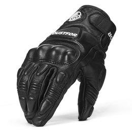 Full Finger Leather Motorcycle Gloves NZ - Motorcycle Gloves Leather Touch Screen Moto Glove Full Finger moto Men Electric Bike Motocross Protective Gear Cycling Bike DST-02
