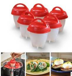 $enCountryForm.capitalKeyWord NZ - Silicone Egg Poacher Cups Steamer 6pcs set Egg Cooker Hard Boiled Egg Without Shell Omelette Molds