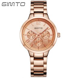 Women Watch Beauty Australia - HQ Beauty Lady Rose Gold Steel Belt Woman Small Watch Fashion Three-eye Casual Professional Female Watch Business Dress Quartz Movement