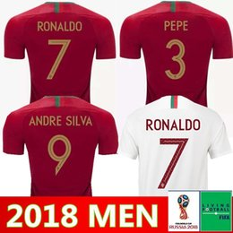 9f896f1ec Men Soccer Jersey 2018 World Cup 17 GUEDES 5 GUERREIRO 10 MARIO 11 BERNARDO  SILVA Football Shirt Kits National Team 20 QUARESMA