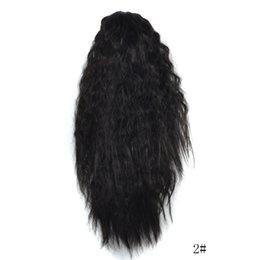 Discount short ponytail hair extensions - Women's Fashion Long Ombre Wavy Wig Claw Thick Wavy Curly Short Ponytail Horsetail Clip Hair Extensions Cosplay Syn