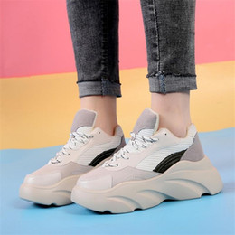 Flat Lace Up Oxfords Women Australia - COOTELILI Women Flats Platform Woman Creepers Suede Leather Sneakers Female Oxfords Lace up Ladies Casual Women Shoes