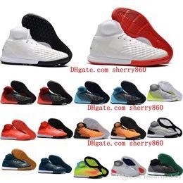 Futsal Shoes Australia - 2017 original indoor soccer boots MagistaX Proximo II IC TF cleats boots football shoes cheap magista x futsal soccer cleats leather kids
