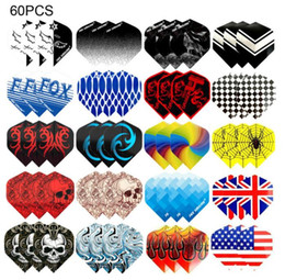 Fox Smiling Dart Flights Multiple Styles Colorful 60PCS PET Darts Flights Newly Dart Accessories on Sale