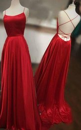 Satin Strings Australia - A-line Scoop Neck Long Satin Prom Dresses with Sexy Back Floor Length Prom Gowns with String Tie Back Plus Size Dresses Custom