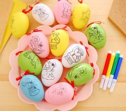 favor pens Australia - Easter Egg Painting DIY Kit with Watercolor pens Easter Hunt Basket Stuff Fillers Classroom Prize Supplies Filling Treats Party Favor GIFT