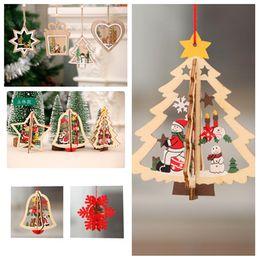 $enCountryForm.capitalKeyWord Australia - Christmas Tree Pattern window ornaments Christmas pendant Decorations Colorful Home Festival Christmas OrnamentsT2I5337