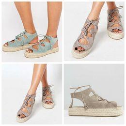 SandalS thick bottomS online shopping - Thick Bottom Sandals Hemp Rope Shoes Lightweight Women Colors Mix Summer Beach Big Code Comfortable No Grinding Feet jt f1