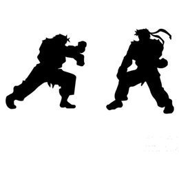 pink trucks UK - HotMeiNi Wholesale 20pcs lot 58cm x 29cm 2 x Ryu Ken Fighting Funny Graphical (one For Each Side)Car Sticker For Truck AutoDecal 8 Colors