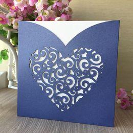 $enCountryForm.capitalKeyWord Australia - 20PCS  lot Big Heart Laser Cut High-end Wedding Invitation Cards Modern Style Ceremony Luxury Greeting Cards Pearl Paper Supplies