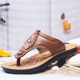 Men Patent Leather Sandal Australia - 2019 designer slides mens flip flops designer sandals genuine leather slippers fashion luxury Men Sandals wide flat Sandals Beach shoes