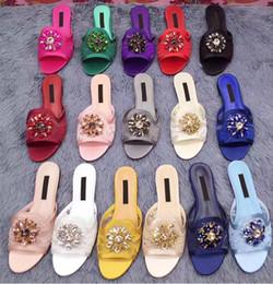 Lace Peep Toe Flats Australia - 2019summer slide sandals sexy lace flats women peep toe slippers crystal embellished mules dress shoes women sandals