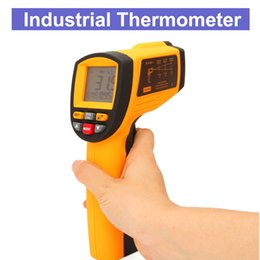 hot thermometer NZ - Hot sale Laser Infrared Thermometer Temperature Measuring Gun Multi-function Industrial Thermometer - 18 to 1350 degree free shipping