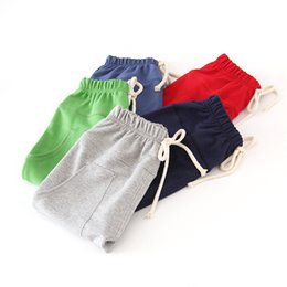 Red Tutus For Sale Australia - wholesale 2019 Hot sale size90~130 kids clothes children pants for baby boys trousers girls harem pants candy solid colors