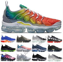 $enCountryForm.capitalKeyWord Canada - Rainbow TN Plus Triple Black Wolf Grey Mens Womens Running Shoes Brand New Bumblebe Men Designer Shoes Shark Tooth Sport Sneakers