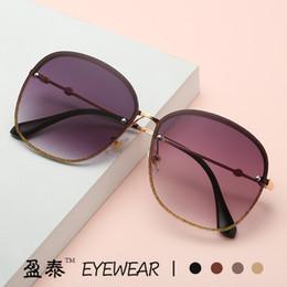 $enCountryForm.capitalKeyWord Australia - 2019 New Colorful Fashion Sunglasses Retro Trend Big Frame Mirror Star with the Same Paragraph Sunglasses Female Tide