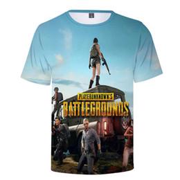 Plus Size Gold Shirt Australia - new Summer Hot Pubg 3d T Shirt Men women Fashion Game Playerunknown's Battlegrounds Plus Size 3d Print Pubg Men's T Shirt