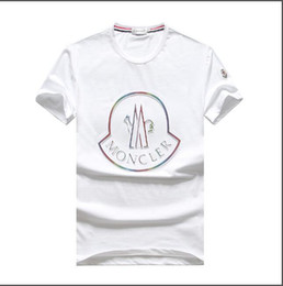 $enCountryForm.capitalKeyWord Australia - HOT SELL! Spring New MONCLERi cotton short short sleeves and a handsome cotton T-shirt with a simple round collar size m-3xl