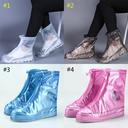 boots for men wholesale shoes UK - New Outdoor PVC Rain Shoes Boots Covers Waterproof Slip-resistant Overshoes Galoshes Travel for Men Women Kids B1
