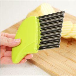 $enCountryForm.capitalKeyWord Australia - Stainless Steel Potato Chips Making Peeler Cutter Vegetable Kitchen Knives Fruit Tool Knife Accessories Wavy Cutter ZJ0567