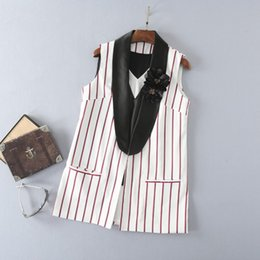 Hand Made Suits Australia - 2019 New Summer White Stripe Pants Suits Mother Of The Bride Dresses Formal Tuxedos Women Wear Custom Made 2 Pieces