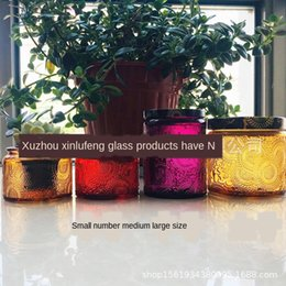 candle fragrances Australia - hHPTg Color embossed aromatherapy candlestick essential oil fragrance glass jar embossed glass decoration with Aromatherapycandlestick aroma