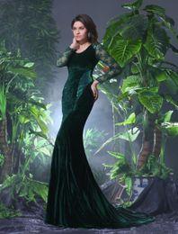 Royal blue pink decoRations online shopping - 2019 New Elegant O neck Mermaid Evening Dress Long Sleeve Lace and Appliques Decoration with Court Train vestidos de novia