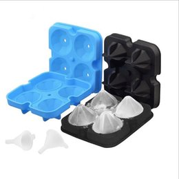 Gadgets Utensils Australia - Ice Balls Maker Utensils Gadgets Mold 4 Cell Whiskey Cocktail Premium Round Spheres Bar Kitchen Party Tools Tray Cube