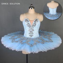 $enCountryForm.capitalKeyWord Australia - Pale Blue Lace Bodice Professional Ballet Tutu Girl & Women Stage Performance Ballet Tutu Pancake Dance Costume