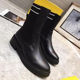 eec838de8 Zapatos de mujer Tacones planos de invierno Botines de moda Mantener  cálidas marcas de lujo con cordones Botas de nieve para mujeres Bottes  Femmes con caja ...