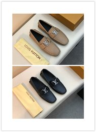 Comfortable business Casual shoes online shopping - 2019 men genuine leather business shoes colors luxury design high quality casual and business comfortable breathable