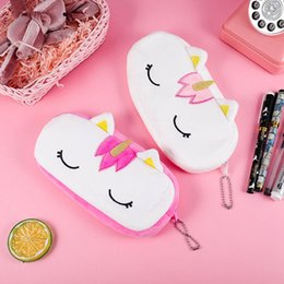 $enCountryForm.capitalKeyWord Australia - Cute Unicorn Plush Pencil Case For Boys Girls Stationery Gift Big Capacity Zipper Pencil Bag School Office Supplies