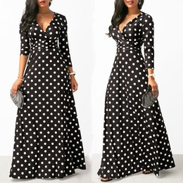 $enCountryForm.capitalKeyWord Australia - Fashion-Women Polka Dot Long Sleeve Boho Dress Elegant Vintage Women Dresses Evening Party V Neck Maxi Long Dress Fashion Ladies Dresses